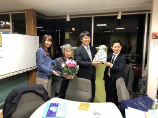 室沢さん、賞子さんの誕生日でした!